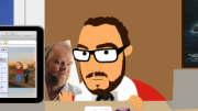 the animated comedy show lunki and sika - sika with a picture of philip seymour hoffman