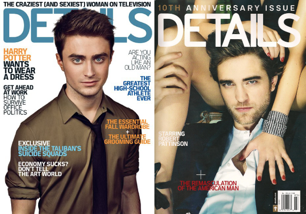 the animated comedy series lunki and sika - daniel radcliffe and robert pattinson on detail magazine cover