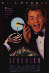 scrooged bill murray movie poster 1988