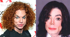 carrot top and michael jackson plastic surgery kings