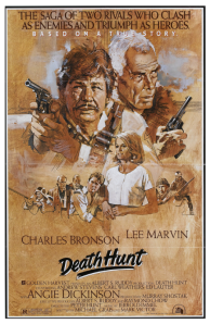 death hunt poster 1981 starring lee marvin charles bronson and angie dickinson