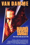 Hard Target poster from 1993 starring Jean Claude Van Damme