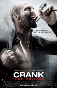 jason statham starring in crank 2 high voltage-poster