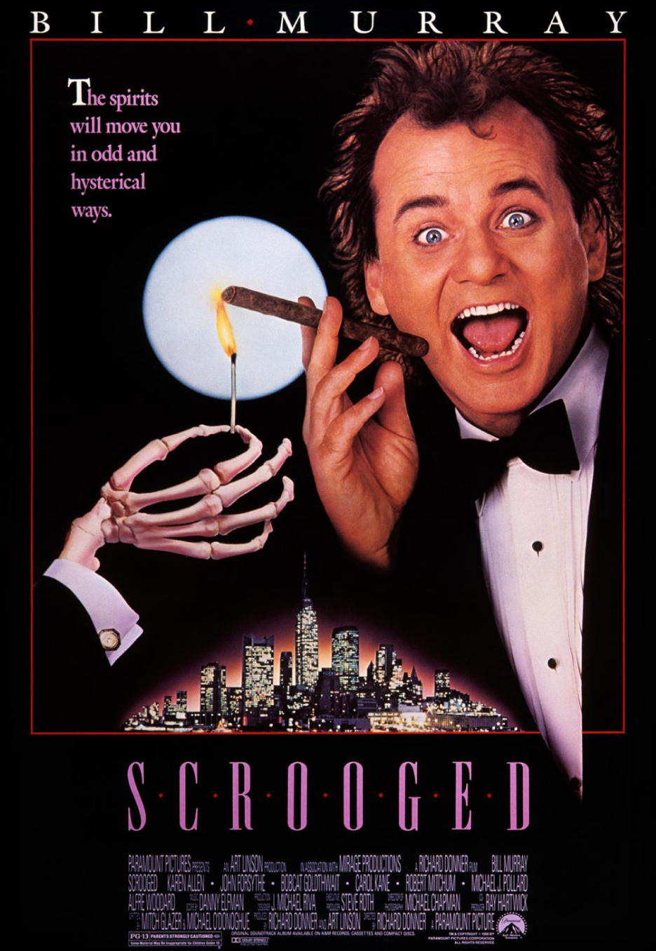 Sika s 100 greatest movies of all time 79 scrooged 1988 for Top songs of 1988